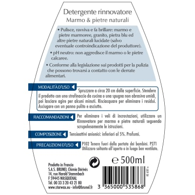 Detergente Starwax Marmo e pietre naturali 500 ml
