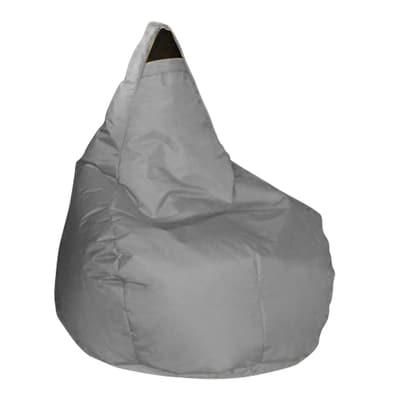 Cuscino pouf Pera idrorepellente grigio 100 x 70 cm
