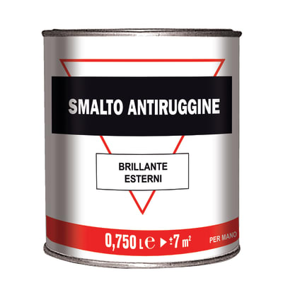 Smalto per ferro antiruggine marrone brillante 0,75 L