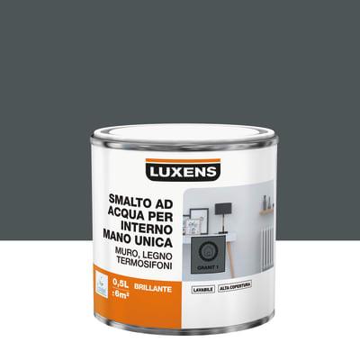 Smalto manounica Luxens all'acqua Grigio Granito 1 brillante 0.5 L