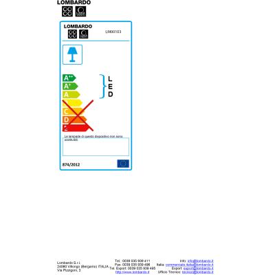 Faretto incasso per esterno a parete 1209 LED 22 x 11 cm IP54