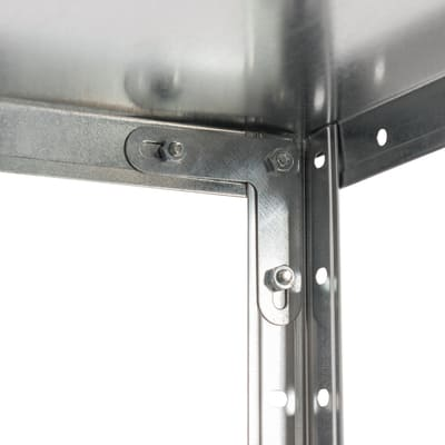 Scaffale metallo zincato 4 ripiani L 72,5 x P 30 x H 145 cm
