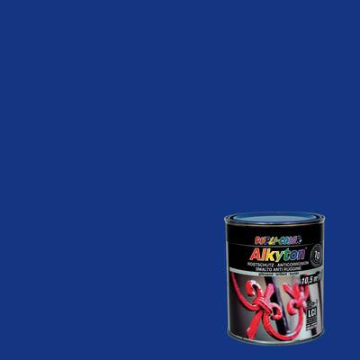 Smalto per ferro antiruggine Alkyton blu RAL 5010 brillante 0,75 L