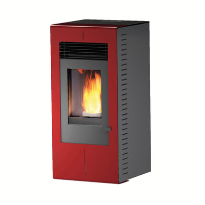 Stufa a Pellet Platinum 8,1 kW bordeaux