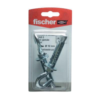 2 tasselli Fischer TA M ø 12 x 56  mm con occhiolo aperto