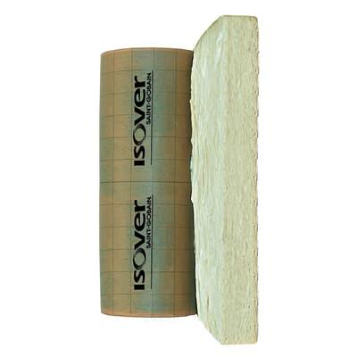 Rotolo in lana di vetro con carta kraft bitumata Isover IBR K 4+ Saint Gobain L 1 m, spessore 120 mm