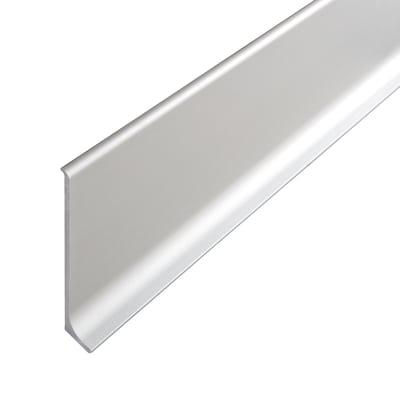 Battiscopa argento 6 x 10 x 200 mm