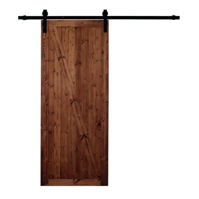 Porta da interno scorrevole Factory noce 86 x H 213 cm reversibile