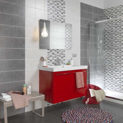 Piastrella sirio 20 x 50 cm grigio prezzi e offerte online - Bagno ecologico prezzi ...