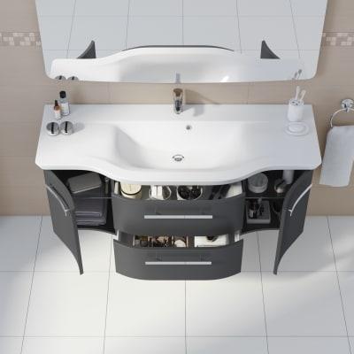 Mobile bagno Contea grigio antracite L 137 cm