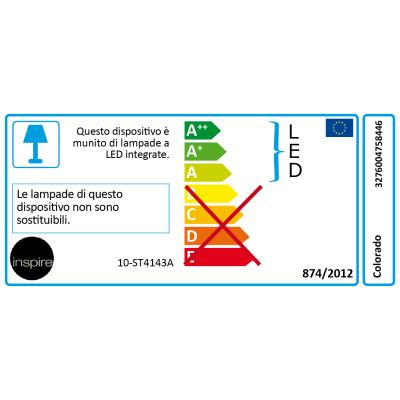 Faretto incasso per esterno a pavimento Colorado LED Ø 25 cm IP65