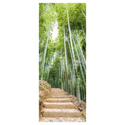 Sticker Door Cover Bamboo forest