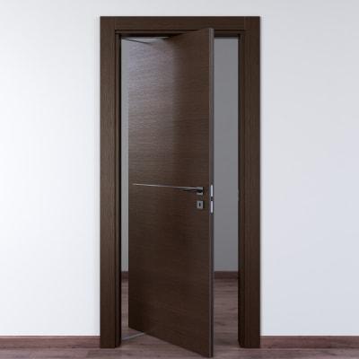 Porta da interno rototraslante Wright Fumo 80 x H 210 cm sx