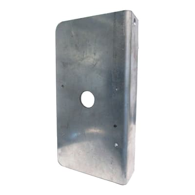 Placca per serratura elettrica Zincata per cancelli pedonali H 24 cm