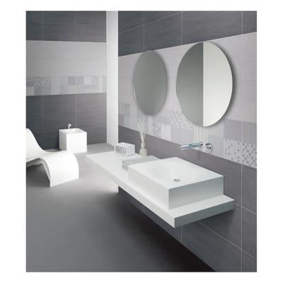 Piastrella con decoro Karin bianco 30 x 60 cm
