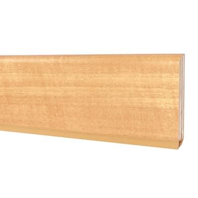 Battiscopa impiallacciato verniciato noce tanganika 10 x 75 x 2400 mm