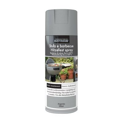 Smalto spray BBQ Rustolium alte temperature argento opaco 400 ml