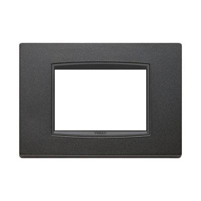 Placca 3 moduli Vimar Eikon Classic antracite matt