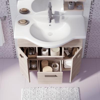Mobile bagno rimini larice l 85 cm prezzi e offerte online for Leroy merlin lavatoio con mobile