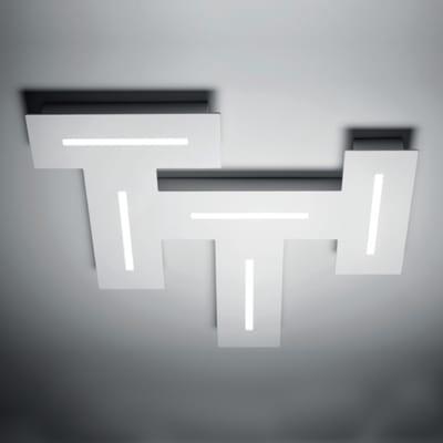 Plafoniera Maze bianco L 35 x H 3,8 cm