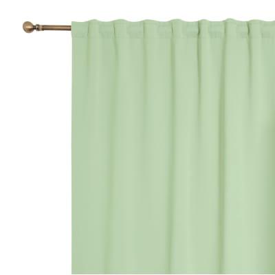 Tenda Oscurante fettuccia e passanti nascosti verde 140 x 280 cm
