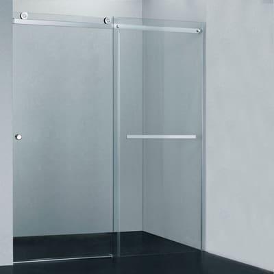 Porta doccia scorrevole fabrik 117 120 h 200 cm cristallo for Cabine doccia multifunzione leroy merlin