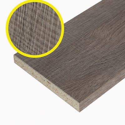 Pannello melaminico rovere medio 18 x 300 x 1000 mm