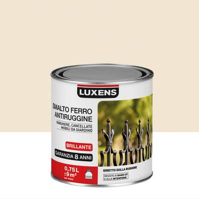 Smalto per ferro antiruggine Luxens Avorio brillante 0,75 L