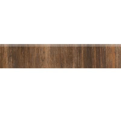 Battiscopa Eco Tiles grigio 7,5 x 30,2 cm