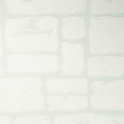 Carta da parati mattone casolar bianco 10 m prezzi e for Carta da parati catalogo online