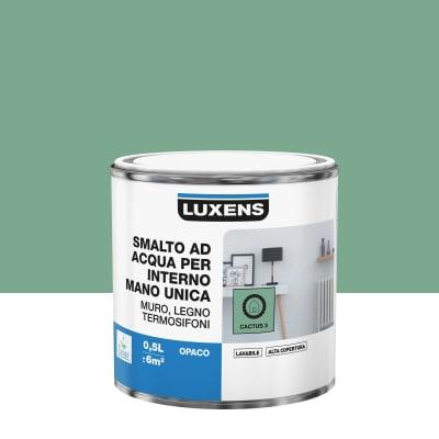 Smalto manounica Luxens all'acqua Verde Cactus 3 opaco 0.5 L