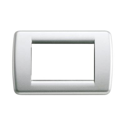 Placca 3 moduli Vimar Idea argento metallizzato
