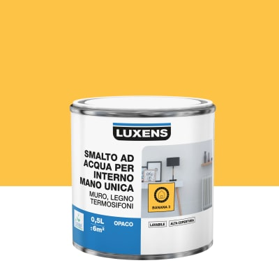 Smalto manounica Luxens all'acqua Giallo Banana 3 opaco 0.5 L