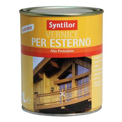 Vernice per esterno ad acqua Syntilor incolore brillante 0,25 L