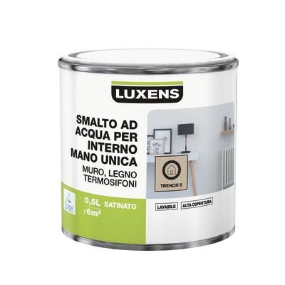 Smalto manounica Luxens all'acqua Marrone Trench 5 satinato 0.5 L
