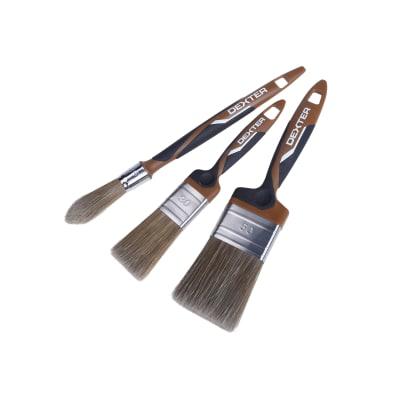 Kit di 3 pennelli Dexter 2 piatti 30-50 mm 1 tondo 15 mm