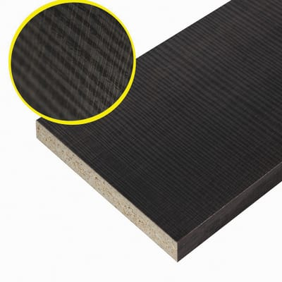 Pannello melaminico rovere scuro 25 x 300 x 2500 mm