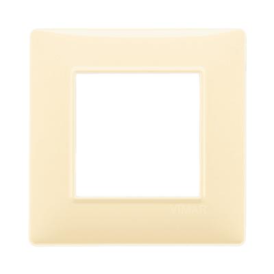 Placca 2 moduli Vimar Plana crema