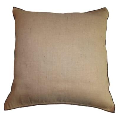 Cuscino grande Juta Kaveri beige cucitura nero 70 x 70 cm