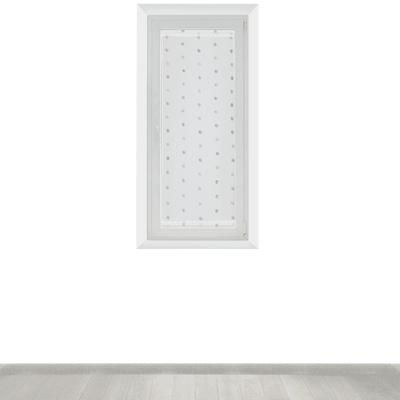 Tendina a vetro per finestra Chloe bianco 60 x 140 cm