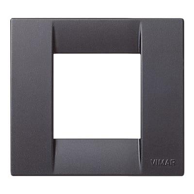 Placca 2 moduli Vimar Idea nero