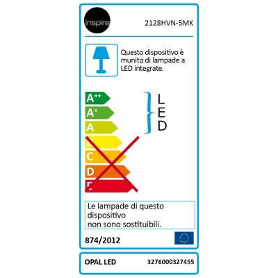 Tubo LED flessibile Inspire Opal luce calda m5