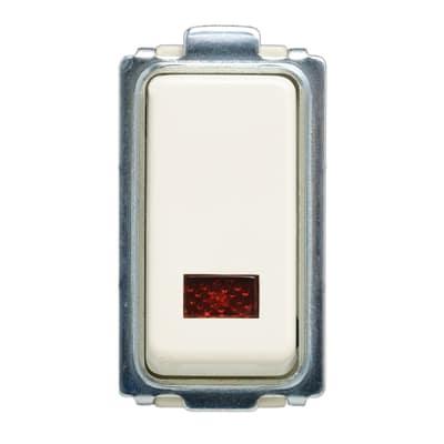 Deviatore 10A 1P illuminato FEB Laser bianco