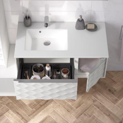 Mobile bagno neo frame l 90 x p 48 x h 32 cm 1 anta 1 for Progettare bagno 3d online