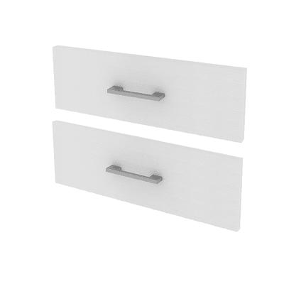 Set 2 cassetti Spaceo bianco L 60 x P 45 x H 32 cm