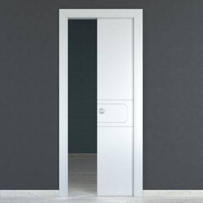 Porta da interno scorrevole Seventy bianco 80 x H 210 cm ...