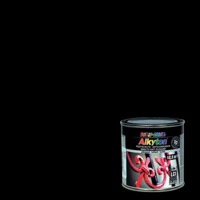 Smalto per ferro antiruggine Alkyton nero RAL 9005 brillante 0,25 L