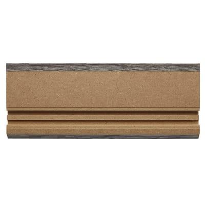 Battiscopa carta finish rivestito grigio 10 x 80 x 2200 mm
