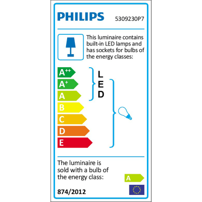 Barra a 2 luci Philips Hue Runner nero