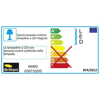 Faretto singolo Nano bianco LED integrato